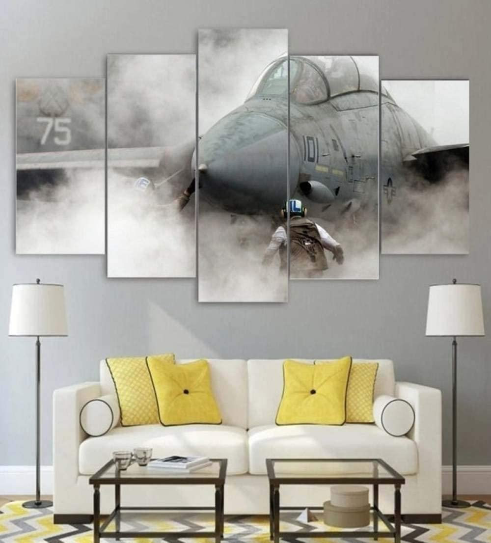 Custom Painting Pictures Grumman F 14 Tomcat Air Force USA Military Decoration Canvas Prints Wall Art Framework Modern Art Decor Bathroom Bedroom Kitchen Modular Framed Ready to Hang