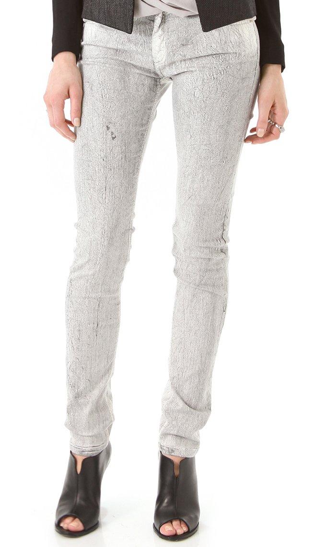 Faith Connexion Super-Stretch 5-Pocket CRACKLE Skinny Jeans (27'')