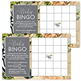 Jungle Baby Shower Bingo Game Set of 25 Fill In Cards
