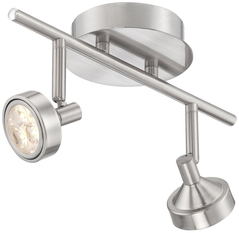 ProTrack Tilden Light LED Brushed Steel Track Fixture Close To - Brushed steel kitchen ceiling lights