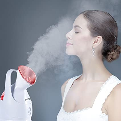 K-SKIN Nano Ionic Facial Steamer Superfine Hot Mist to Moisturize and Cleanse Compact Design