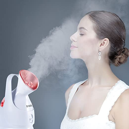 K-SKINFacial Steamer Superfine Hot Mist to Moisturize and Cleanse Compact Design