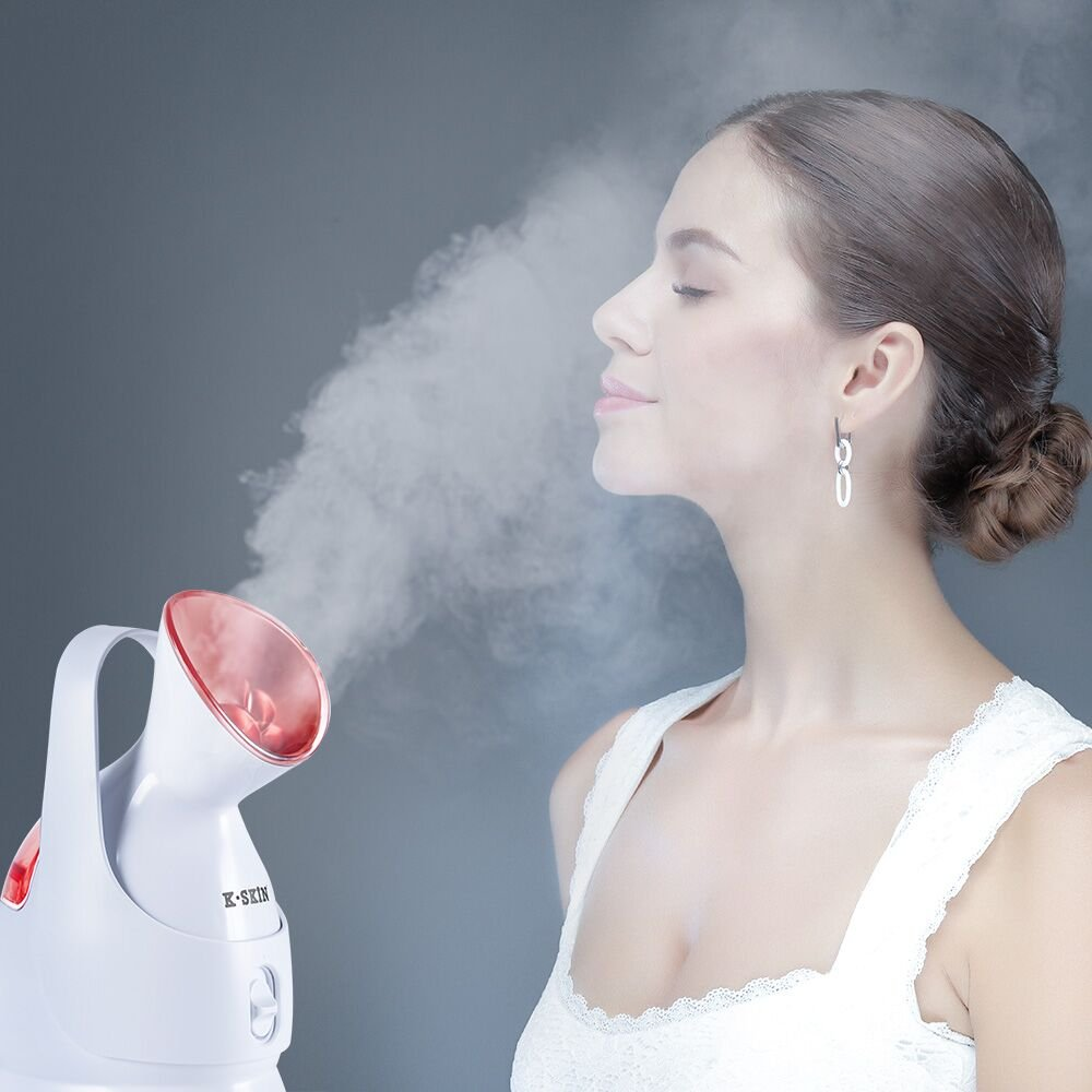 K-SKIN Facial Steamer Superfine Hot Mist to Moisturize and Cleanse Compact Design