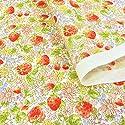 リバティ風 いちご柄 生地【ピンク】花柄 ブロード 布 布地 手芸【1m単位】の商品画像