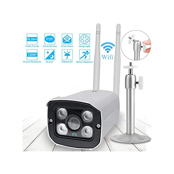 Amazon.com: Cámara de vigilancia IP 720P 1080P al aire libre ...