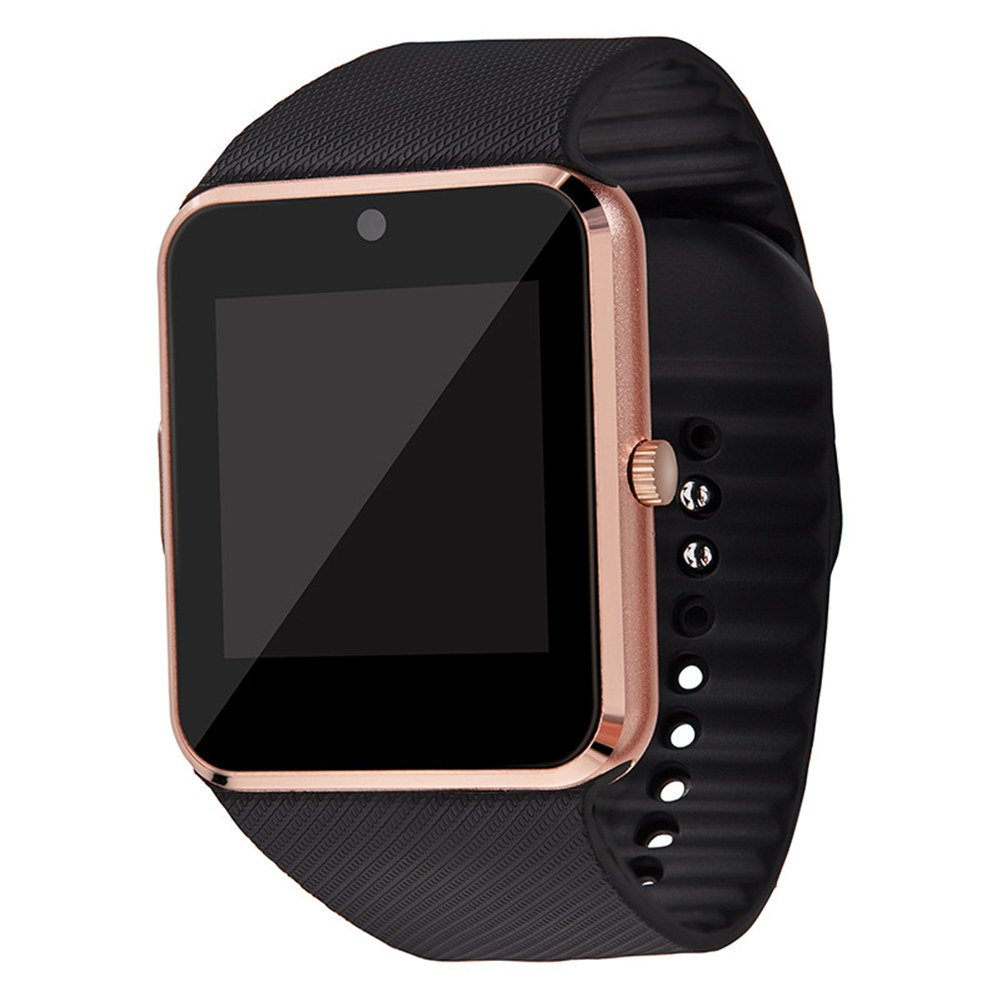 L&X Smart Watch Bluetooth Waterproof Fitness Tracker Heart Rate Monitor Pedometer Sleep Monitor SMS Call Notification Remote Camera Music For IOS Iphone Android,Gold