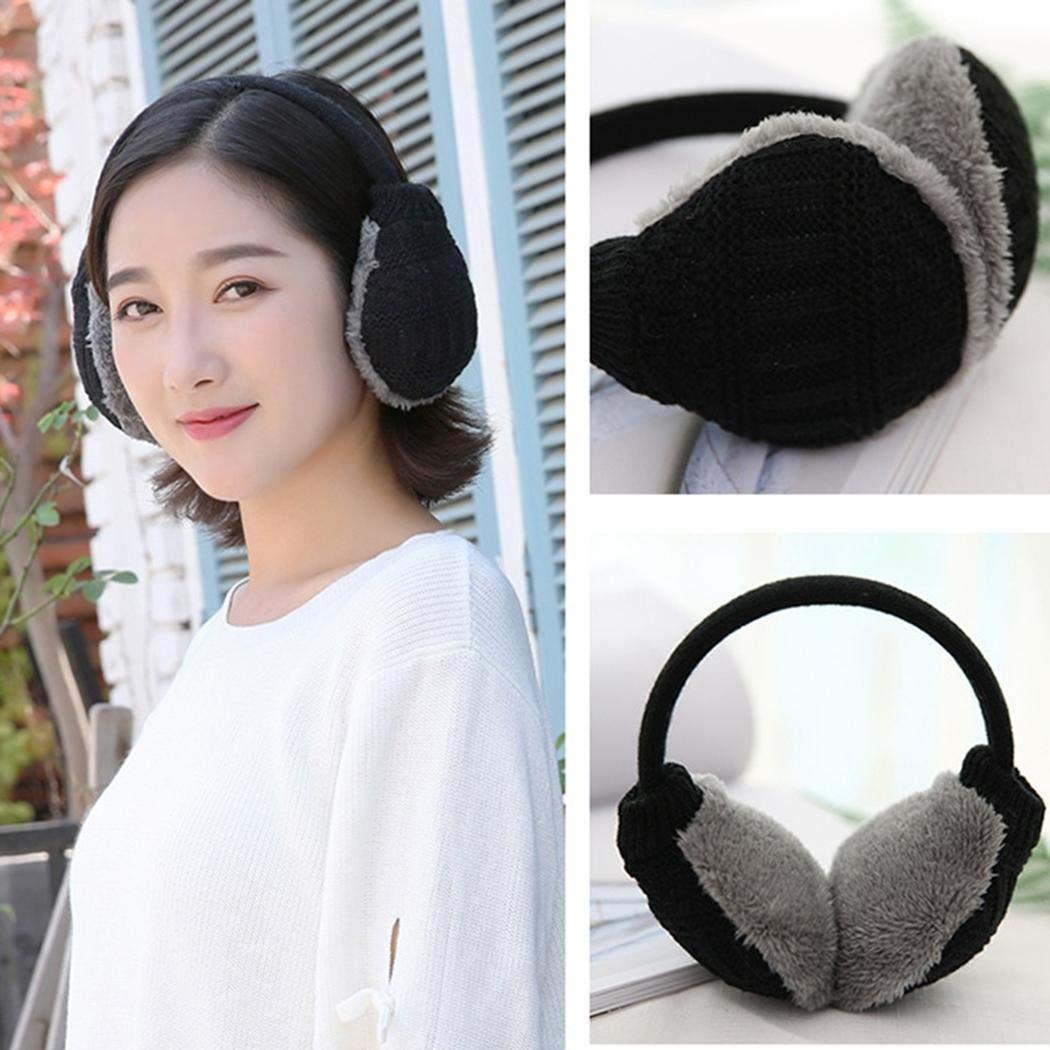Men Women Knitted Earmuff Winter Warm Plush Ear-cap Outdoor Skiing Accessories