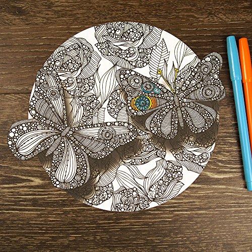 My Wonderful Walls - Divine Butterflies Mandala ColorMe Deca
