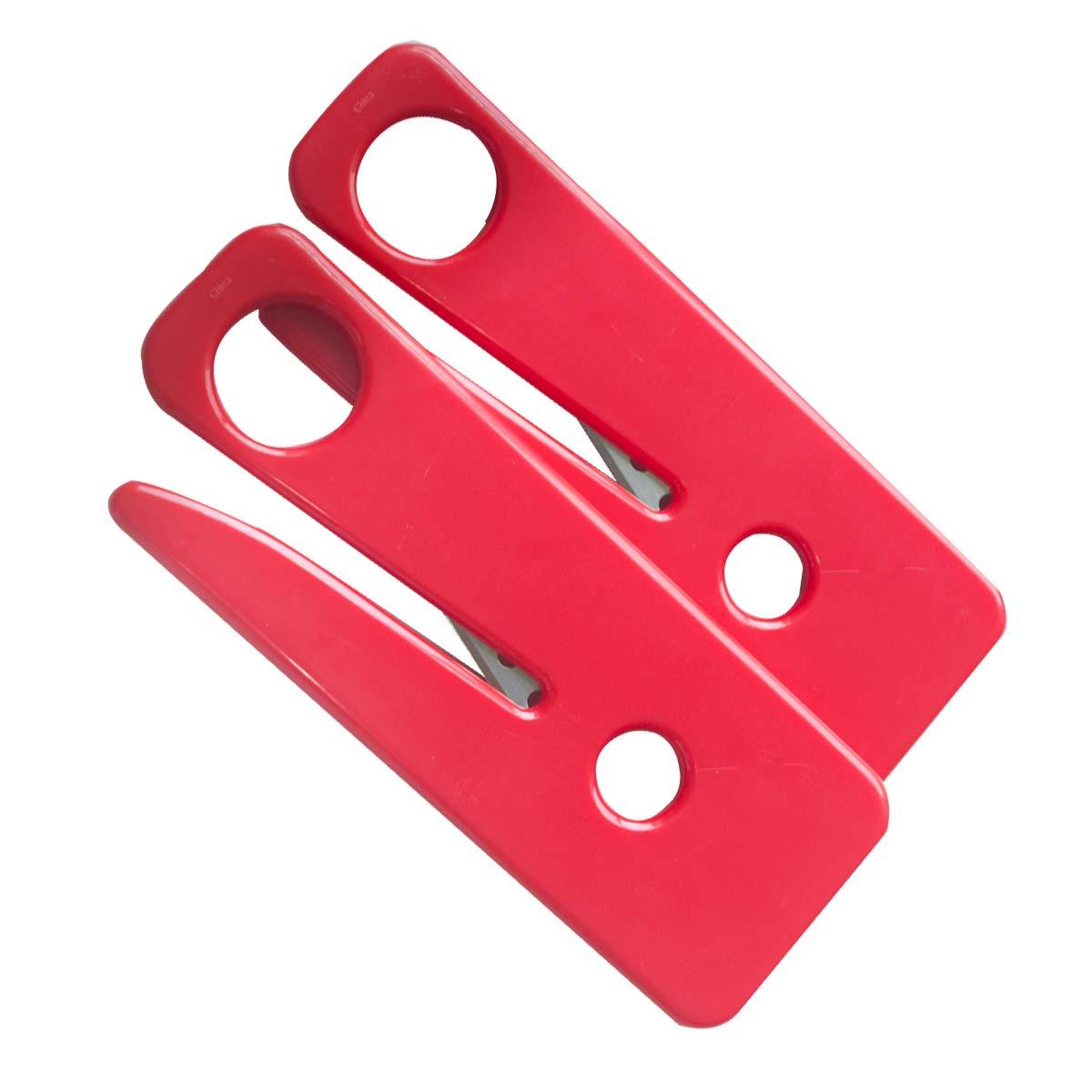 Juego de 20 cortadores de cintur/ón de seguridad de color rojo para veh/ículos de emergencia herramienta de supervivencia para primeros auxilios JTKENS