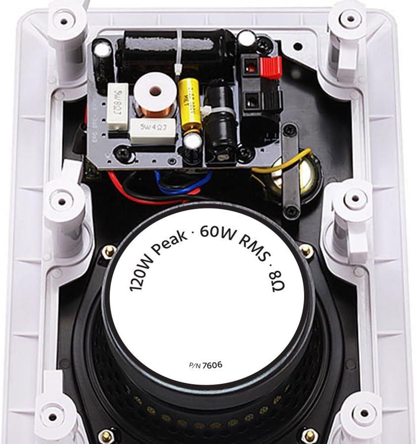 8 Inch Monoprice 2 Way in-Wall Speakers Caliber Slim Series Pair with Aramid Fiber and Titanium Silk Drivers