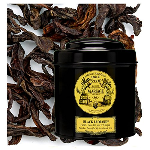 London Leopard - MARIAGE FRERES. Black Leopard, 100g Loose Tea, in a Tin Caddy (1 Pack) NEW EDITION - USA Stock