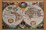 (24×36) World Map – Historical Educational Poster Print Picture
