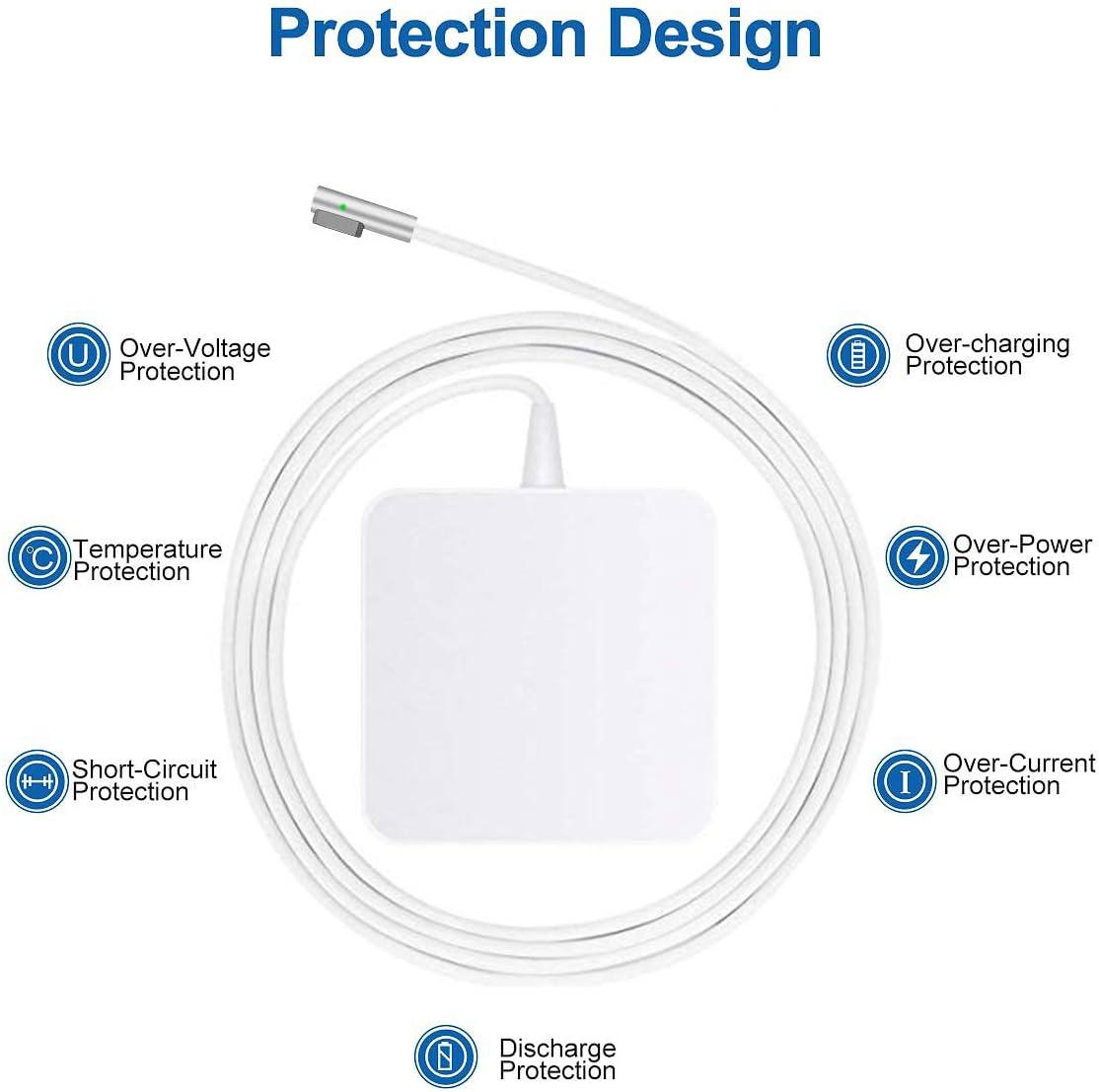 Compatible with MacBook Pro MacBook 11 /& 13 Tasshz Compatible with MacBook Pro Charger 60W MagSafe 1 L-Tip Power Adapter 2009-Mid 2012
