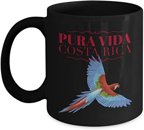 Amazon Com Parrot Picture Costa Rica Coffee 11 Oz Mug Pura Vida Souvenir Art Kitchen Dining