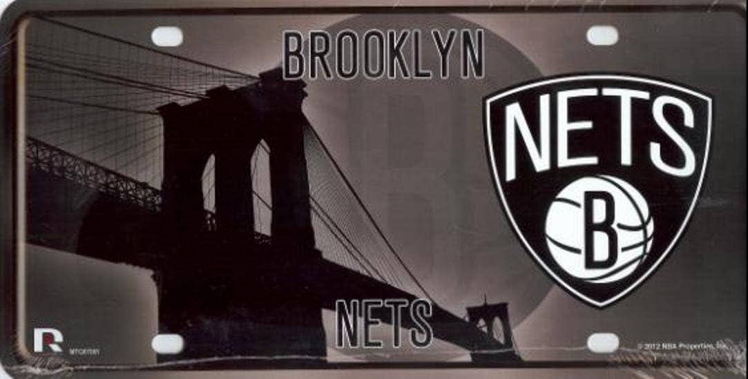 NBA Brooklyn Nets Metal License Plate Tag