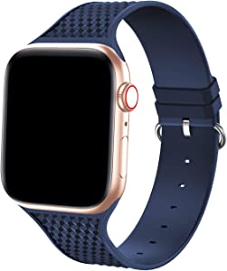 Bandiction Sport Bands Compatible with Apple Watch Bands 38mm 40mm, Silicone Sport Watch Strap for iWatch Bands 38mm 40mm Women Sport Bands Compatible for Apple Watch Band Series 6 SE 5 4 3 2 1