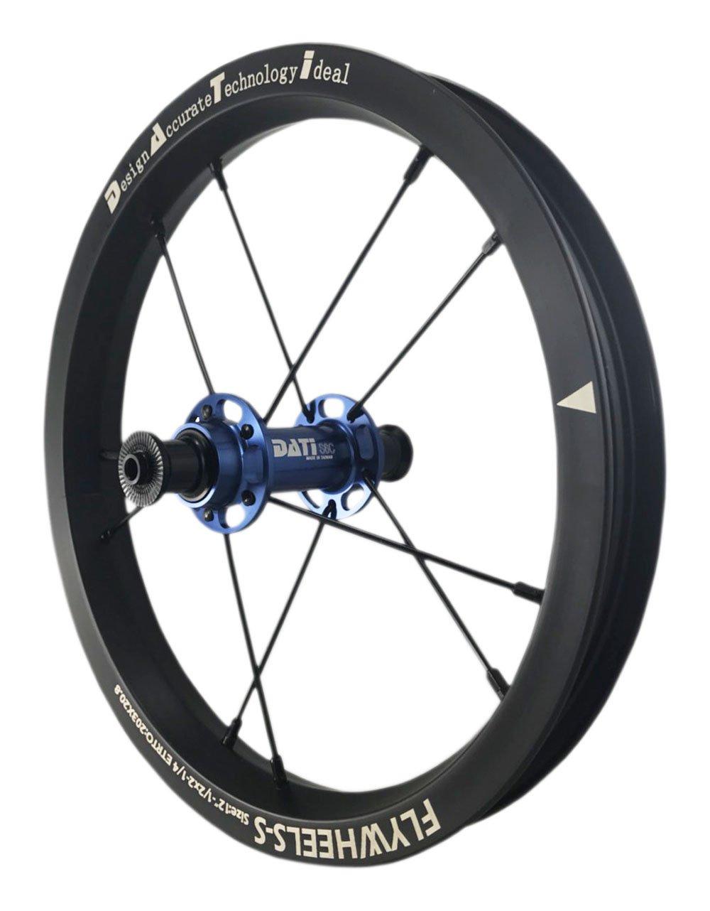 NEW DATI S6C-W AlloyPush Kids Balance Bike Bicycle Super light wheels Set 12'' F+R (Blue, 95X8mm for(Strider))