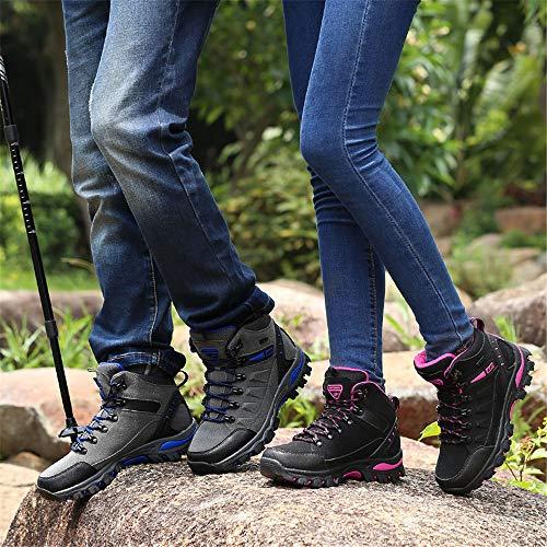BOLOG Leicht und Rutsch Grau Wanderstiefel Wanderschuhe Herren Trekking Damen Wandern Outdoor 1 Outdoor Bequem Sportlich Anti vSrvR