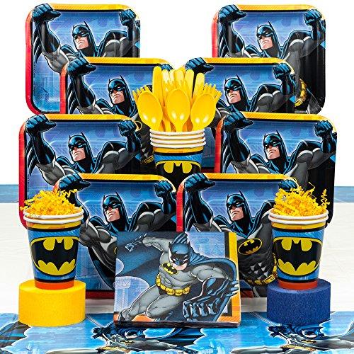 Man Deluxe Party Kit - Costume SuperCenter Batman Birthday Party Deluxe Tableware Kit Serves 8
