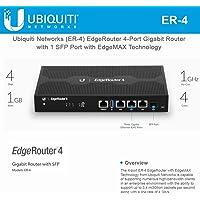 Ubiquiti Networks EdgeRouter 4 Routeur connecté Noir - Routeurs connectés (Gigabit Ethernet, 10/100/1000Base-T(X), 10,100,1000 Mbit/s, 4000 Mpps, 3.0 (3.1 Gen 1), UNMS, CLI, SNMP, NetFlow, LLDP, NTP)