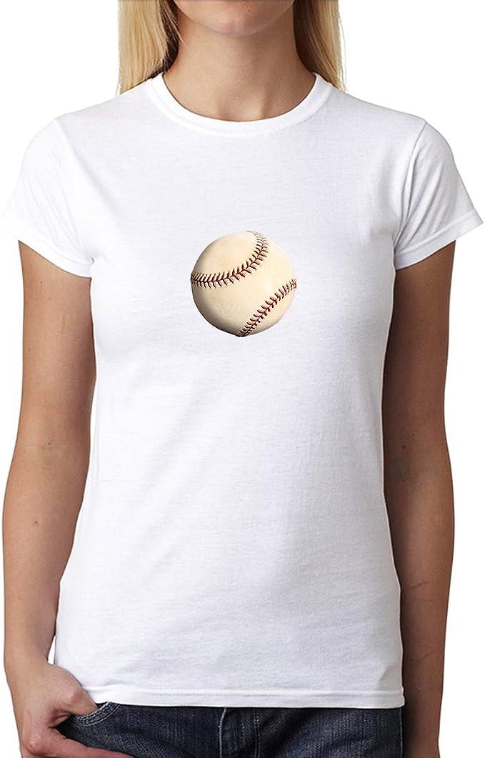 Béisbol Pelota Sport 3D Mujer Camiseta Blanco 3XL: Amazon.es ...