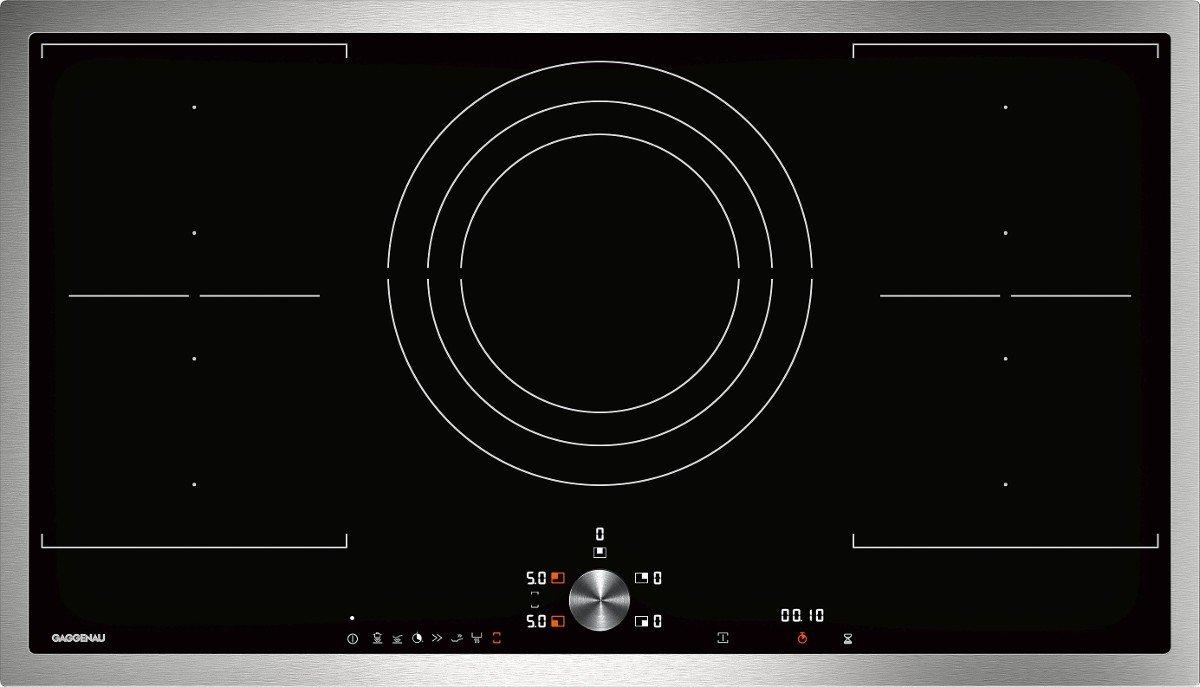 Gaggenau hobs ad inducción CI 292 110 con marco de acero de 90 cm ...