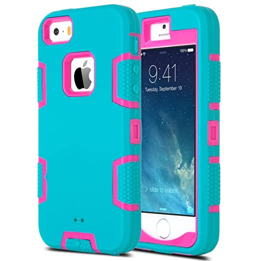 30 opinioni per ULAK- Cover iPhone 5S , iPhone SE Custodia ibrida a protezione integrale con