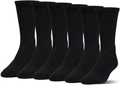 6-Pairs Under armour Charged Cotton 2.0 Crew 6 Pack Under Armour Boys Charged Cotton 2.0 Crew Socks