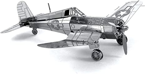 Maqueta met/álica Avi/ón F4U Corsair Metal Earth