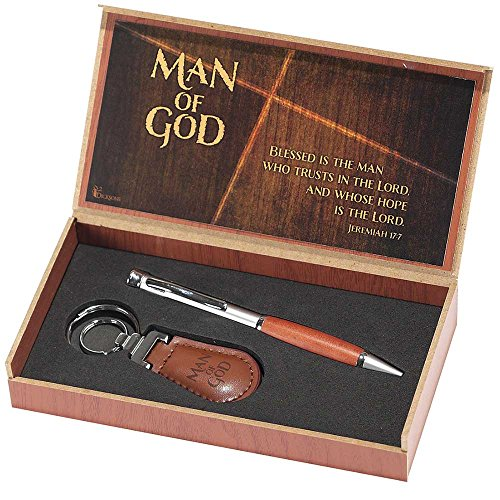 Pen and Keyring Set - Man of God - Jeremiah 17:7