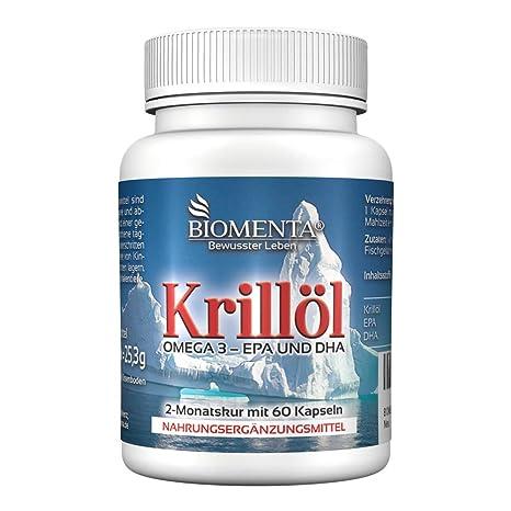 Biomenta ACEITE DE KRILL - Omega-3-EPA-DHA - 60 Omega-