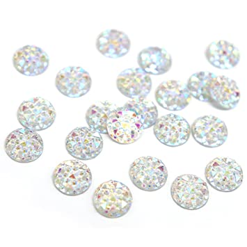 38f206e715 Amazon.com: 50pcs/lot 10mm Round Flatback Rhinestones Resin Sew-on ...