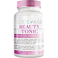 Codeage Beauty Boost Biotin Capsule Supplement - 1500mcg of Biotin per Serving, Astaxanthin, Vegan Collagen Food Blend - Hair Skin Nail Support, Collagen Synthesis - Gluten-Free, 90 Capsules