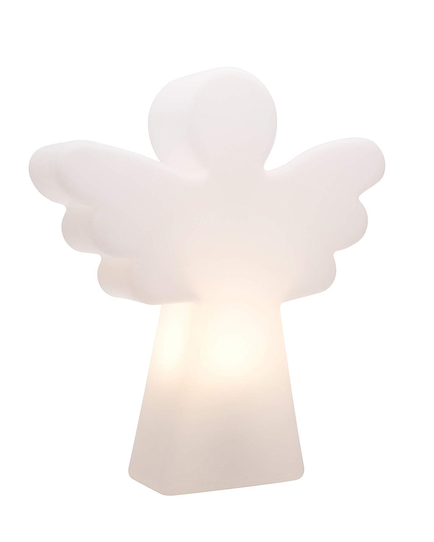 40 cm 8 seasons design  Dekorationsleuchte Engel, Shining Angel Mini  (E27, 40 cm, Tischleuchte, Weihnachtsdekoration Garten & Wohnzimmer) weiß