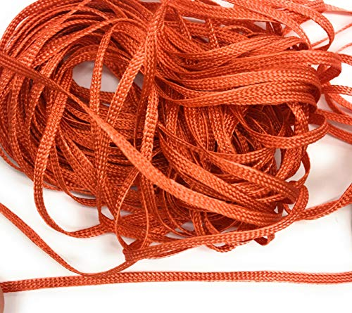 Orange Braid Soutache Flat Cord Beading, 3mm 1/8'' Sewing, Middy Braid Quilting Trimming String 10 Yards