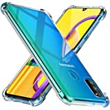 Galaxy M30S Case, WindCase Reinforced Corners TPU Cushion Bumper Shockproof Transparent Case Cover for Samsung Galaxy M30S