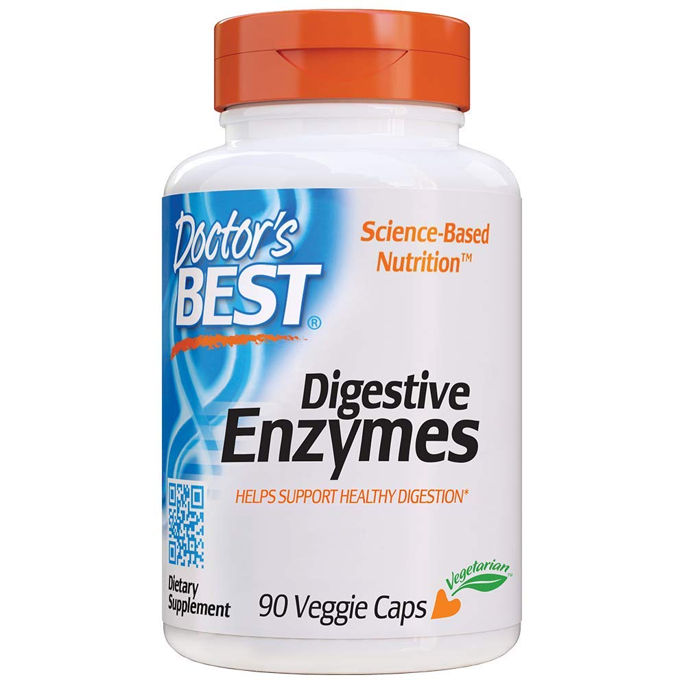 Doctor's Best Digestive Enzymes, Non-GMO, Vegetarian, Gluten Free, 90 Veggie Caps by Doctor's Best