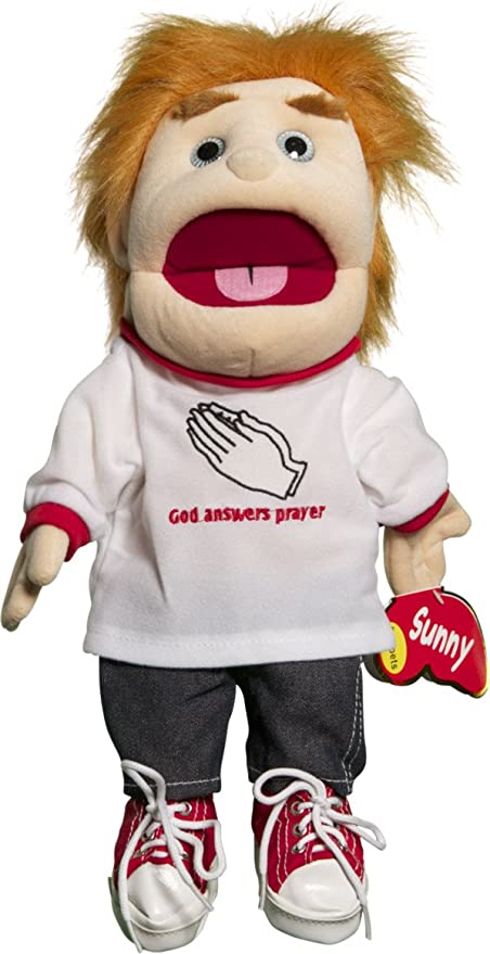 Glove Puppet Sunny Toys GL1513 14 In Blonde-Haired Boy God Answers Prayer