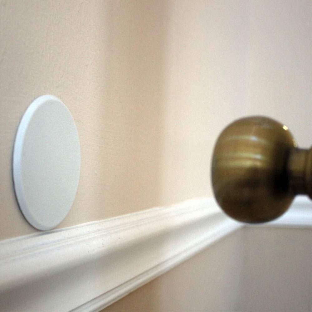 Genial Amazon.com : 2Pc Door Knob Wall Shield Round White Self Adhesive Protector  Prevents Holes New : Door Stops : Office Products