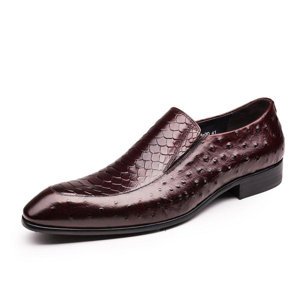 DHFUD Herren Lederschuhe Business Englisch Schuhe