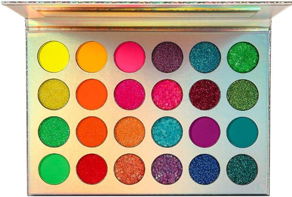 Paleta de sombras de ojos Paleta de sombras de ojos mate Sombras pigmentadas Paleta de maquillaje Set Shimmer Foils Maquillaje de ojos Paleta de sombras de larga duración 24 colores Impermeable y resi