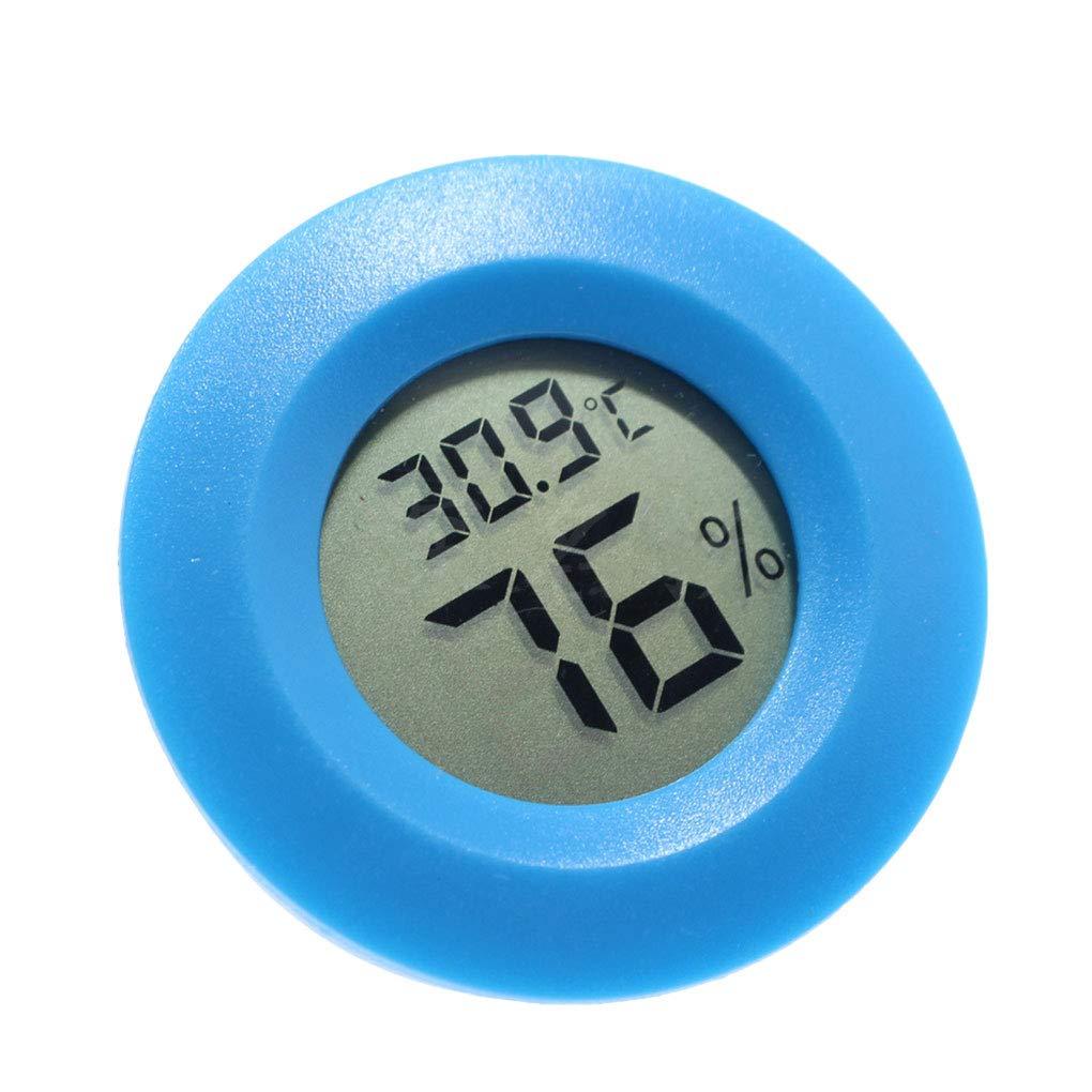 Bodbii Mini Practical Digital-Hallenrunde Thermometer Hygrometer Temperatur- und Feuchtigkeitsmessgerä t LCD Display