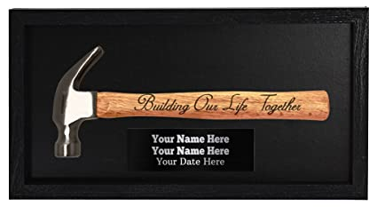 Wedding Gifts Personalized Wedding Gifts Building Our Life Together Bride & Groom Custom Engraved Plaque Wall
