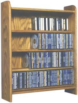 275 CD Storage Rack Finish Natural