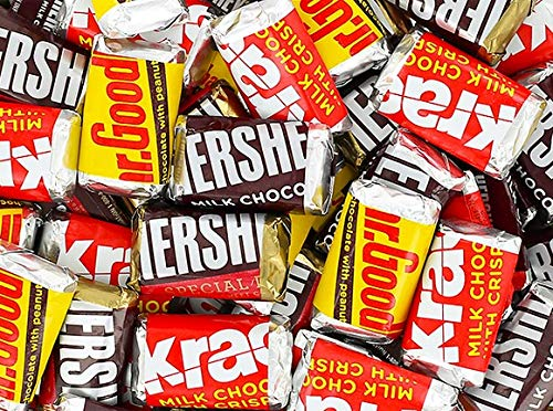 HERSHEY'S Miniatures Assorted Chocolate Candy Bars, (2 Pounds) (Hershey Mini)