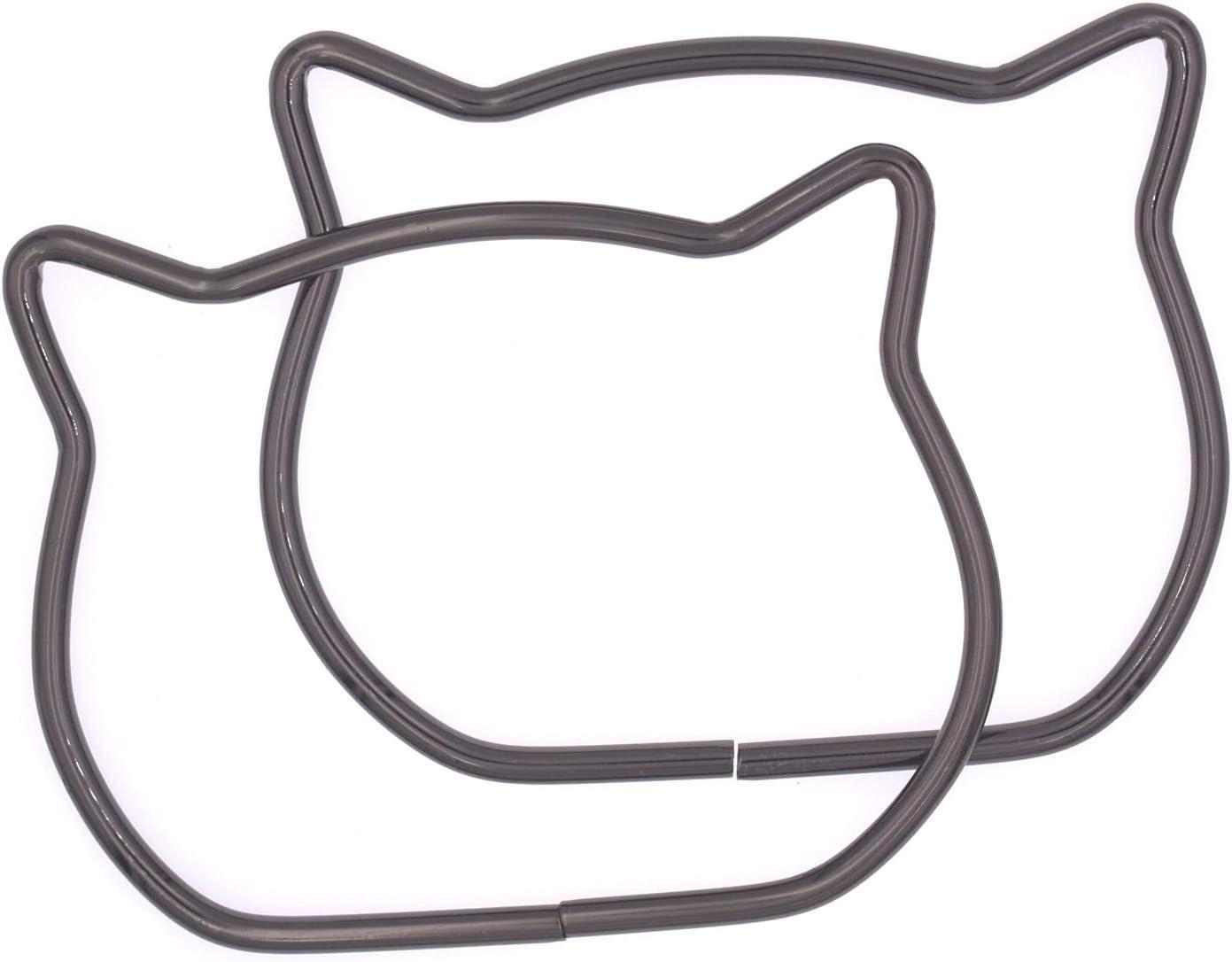 118mm//4.65 Cat Shape DIY Craft Bag Metal Handles Frame 3 Pcs Dia
