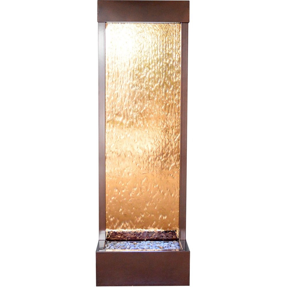 Bluworld 6' Indoor Outdoor Water Fountain Dark Copper with Bronze Mirror