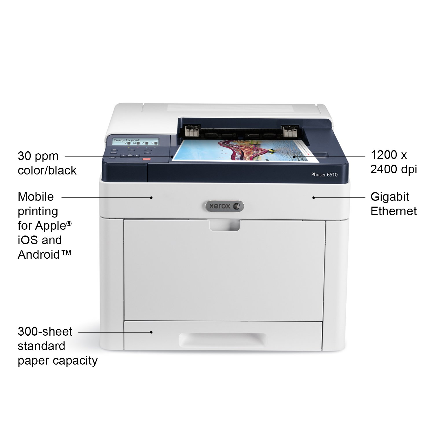 Amazon Xerox Phaser 6510 N Color Laser Printer Electronics