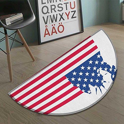 New York bath mats for floors Statue of Liberty Flag Silhoue