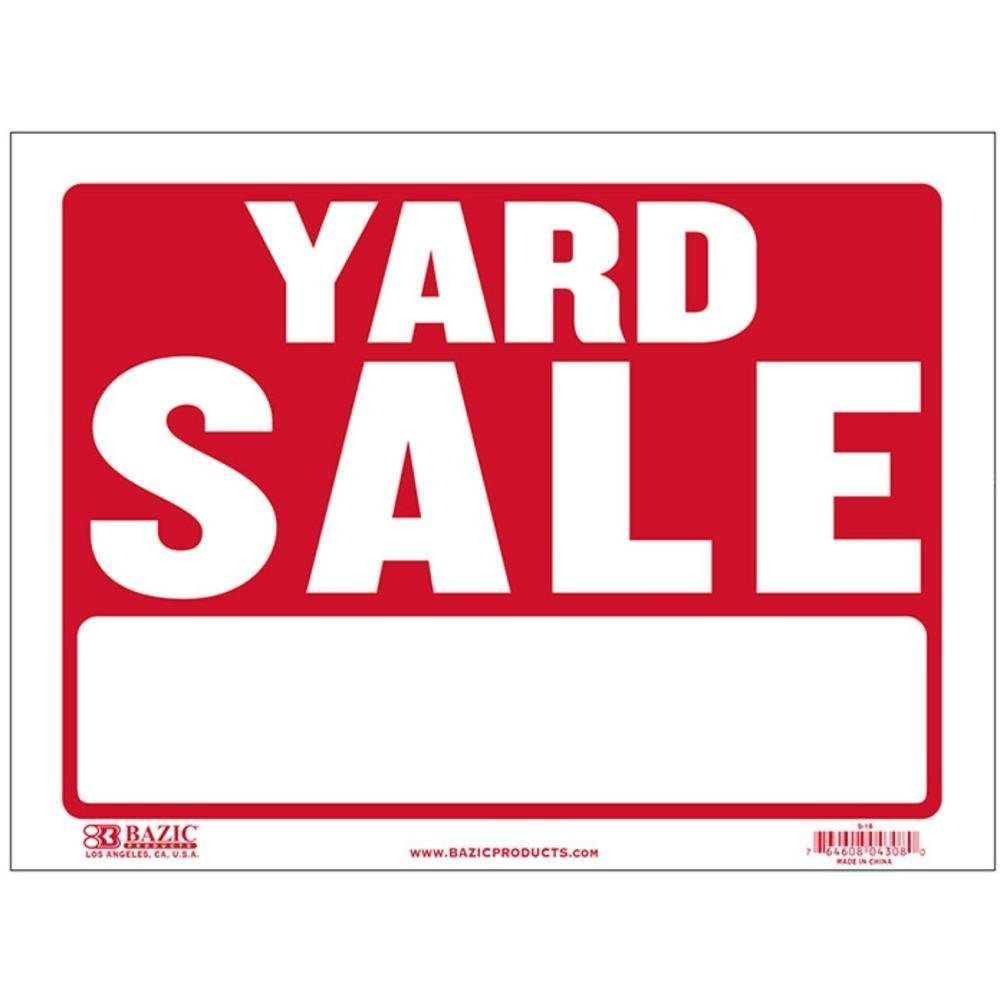 Bazic Products S-16-480 BAZIC 9 in. X 12 in. Yard Sale Sign Case of 480